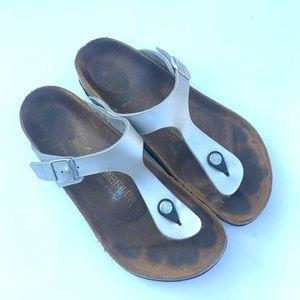 Birkenstock  Silver thing sandal size 9